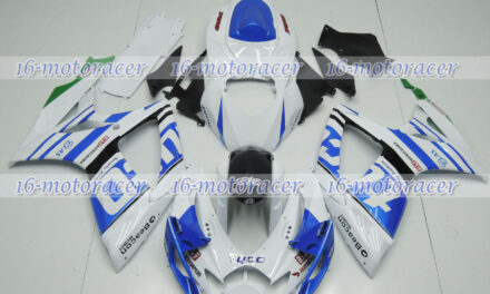 Fairing Injection Mold Body Kit Fit for 2006 2007 GSXR 600/750 K6 Blue White #20