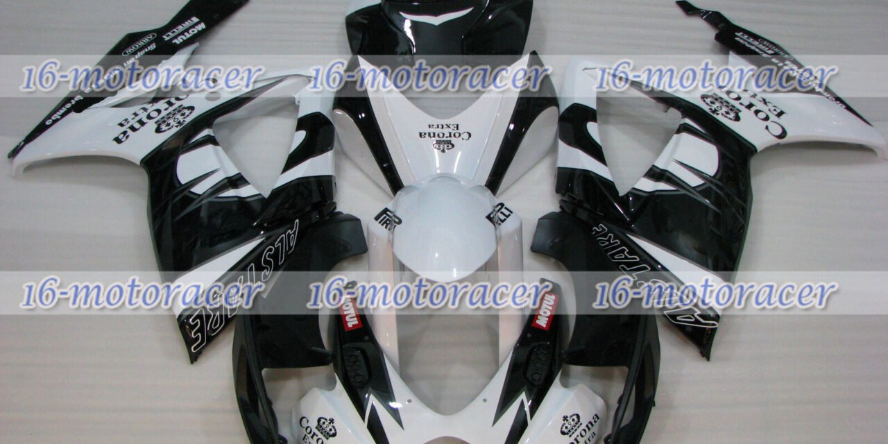 Fairing Injection Mold Body Kit Fit for 2006 2007 GSX-R 600/750 Black White a#26