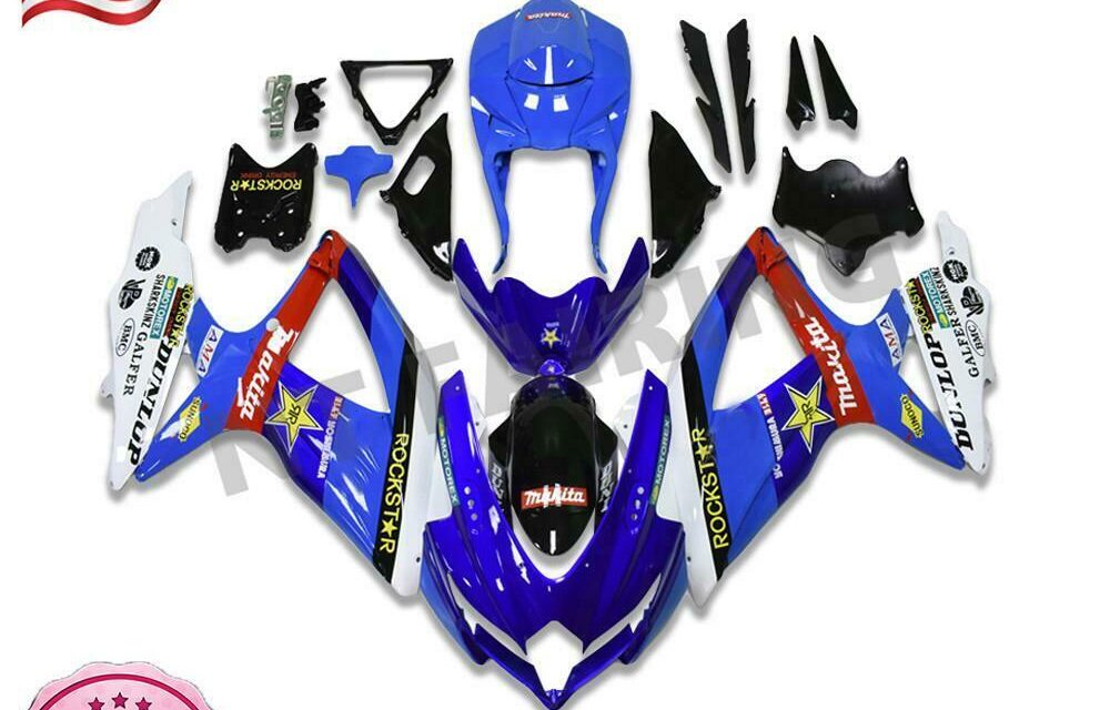 Injection Molding Blue Fairings Fit for GSXR 600 750 SUZUKI 2008-2010 c073