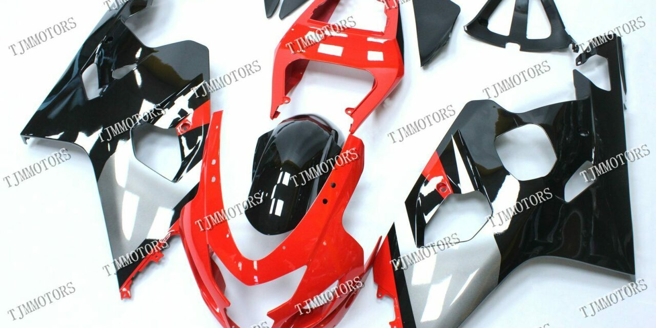 For GSXR600/750 2004-2005 ABS Injection Mold Bodywork Fairing Kit Red Black Grey
