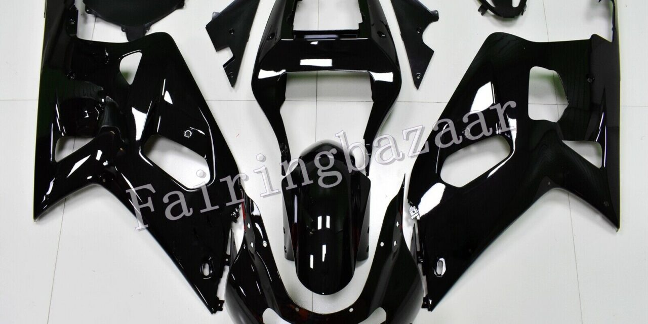 Fit for 2001-03 GSXR600 00-03 GSXR750 Gloss Black ABS Injection Fairing Kit