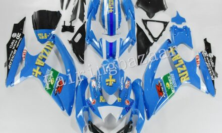Fit for 2008-10 GSXR600/750 Rizla Blue White ABS Injection Bodywork Fairing Kit