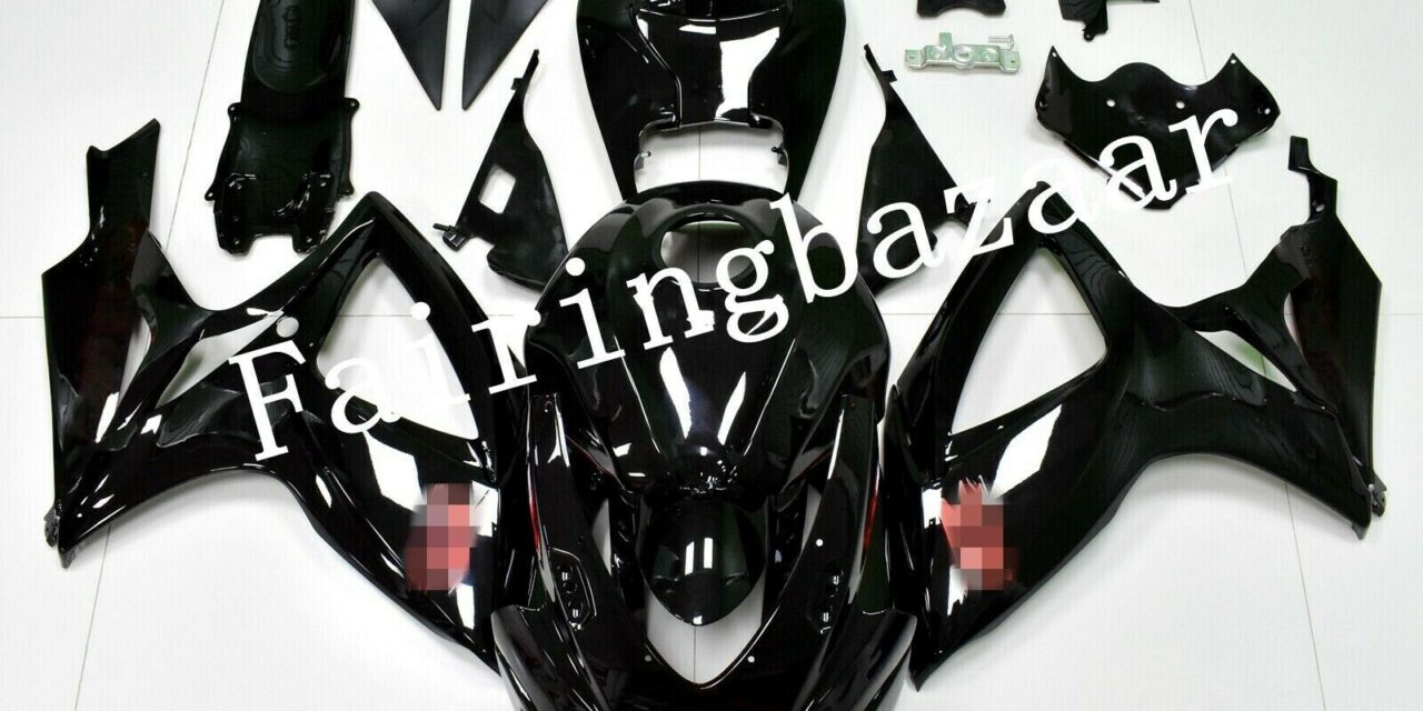 Fit for 06 07 GSXR600 750 Gloss Black ABS Injection Fairing Kit Full Tank Cover