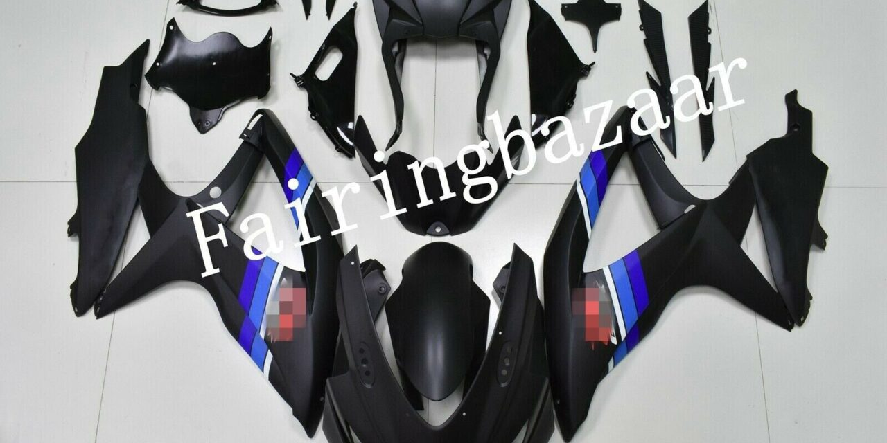 Fit for 2008-09 GSXR600 GSXR750 Matte Black Blue ABS Injection Mold Fairing Kit