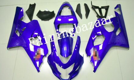 Fit for 2004 2005 GSXR600 GSXR750 Blue ABS Plastic Injection Mold Fairing Kit