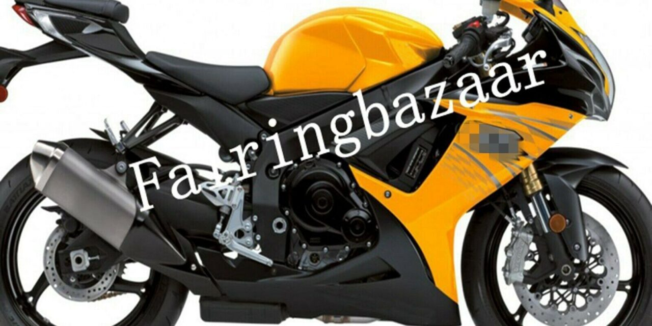 Fit for 2011-2019 GSXR600 GSXR750 Yellow Black ABS Injection Plastic Fairing Kit