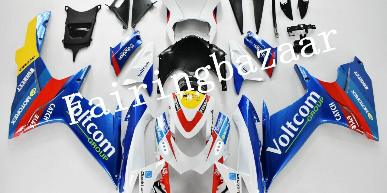 Fit for 2011-19 GSXR600/750 VOLTCOM Blue White Red ABS Injection Fairing Kit