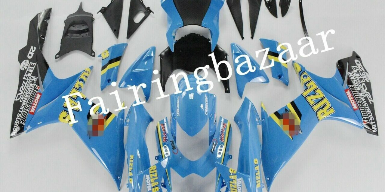 Fit for 2011-2019 GSXR600 GSXR750 RIZLA Blue ABS Injection Mold Fairing Kit