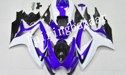Fit for 2006 2007 GSXR600 GSXR750 Blue White Black ABS Injection Fairing Kit