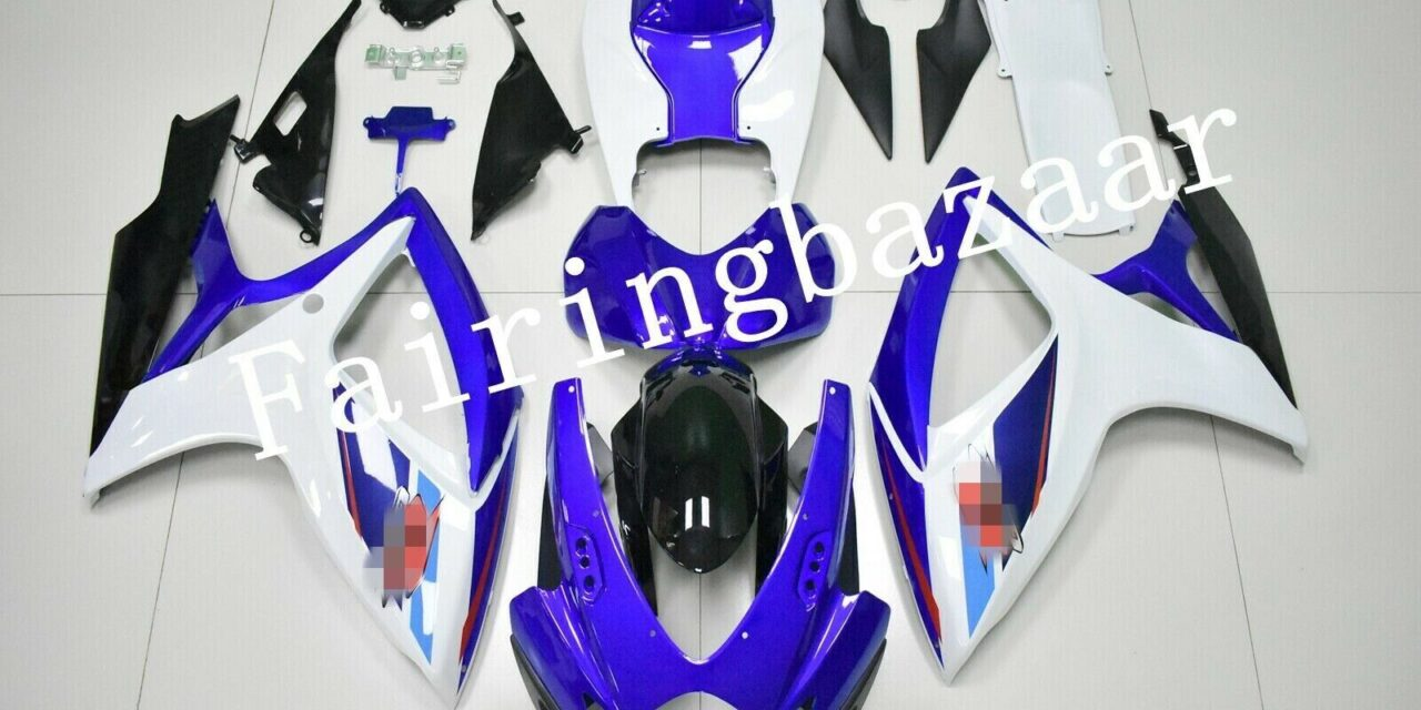 Fit for 2006 2007 GSXR600 GSXR750 White Blue Black ABS Injection Fairing Kit