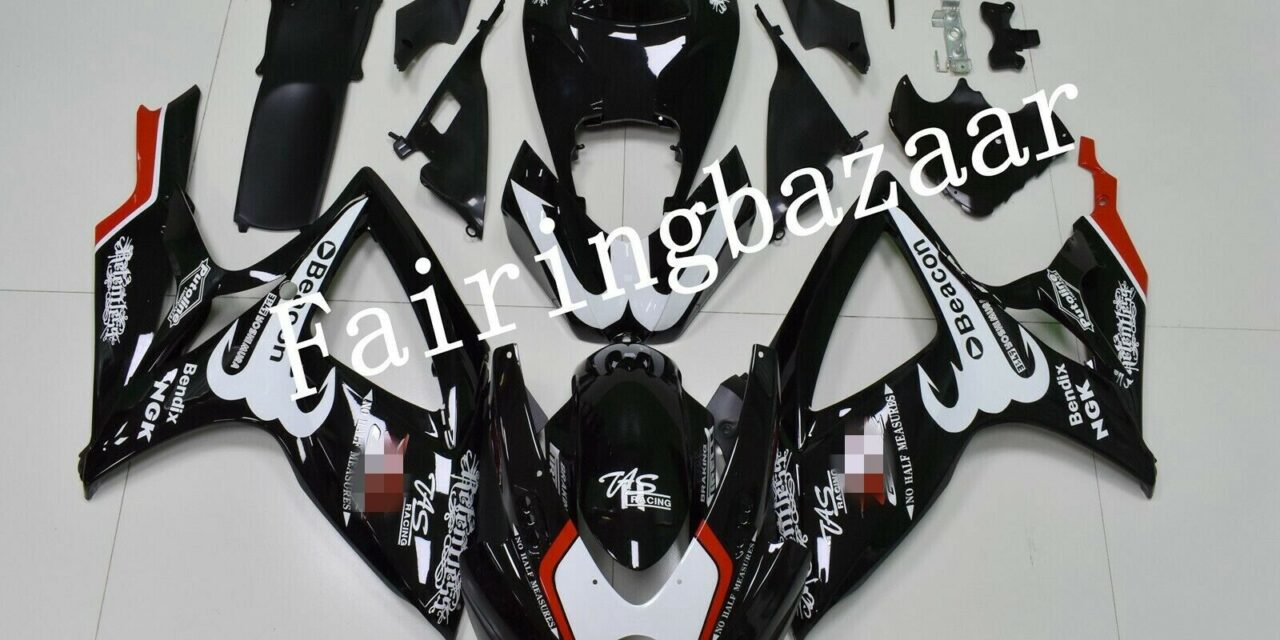 Fit for 2006 2007 GSXR600 GSXR750 RELENTLESS Black ABS Injection Fairing Kit