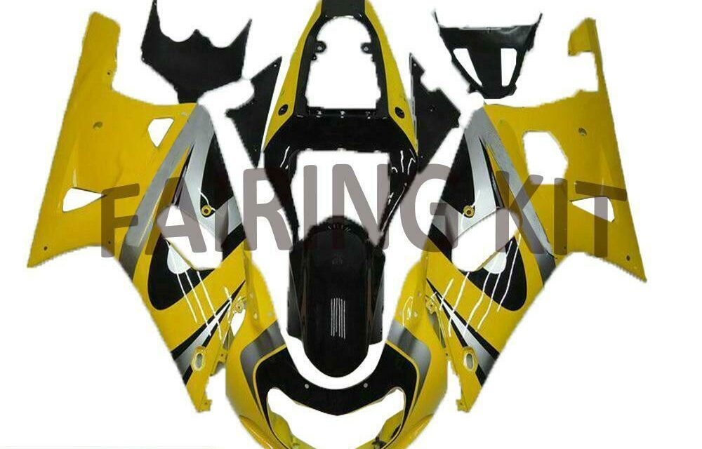 FK Injection Yellow Plastic Fairing Fit for Suzuki 2001-2003 GSXR 600 750 a077