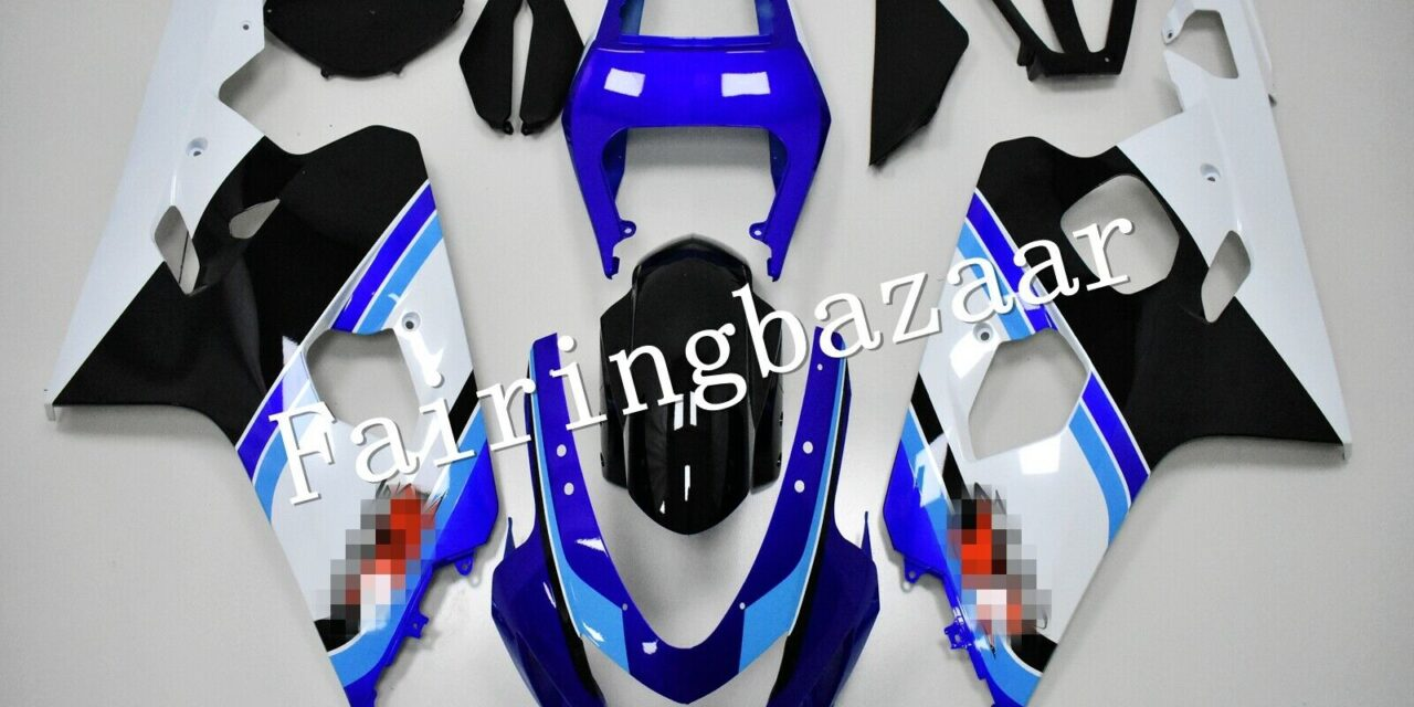 Fit for 2004 2005 GSXR600 GSXR750 Blue Black White ABS Injection Fairing Kit