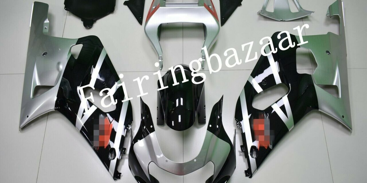 Fit for 01-03 GSXR600 2000-03 GSXR750 Black Silver Red ABS Injection Fairing Kit