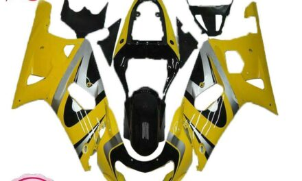 Injection Model Yellow Fairing Fit for Suzuki 2001-2003 GSXR 600/750 a077