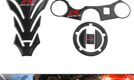 Carbon Fiber Protector 3D Decal Gas Tank Pad Stickers For GSXR 1000 750 600 New