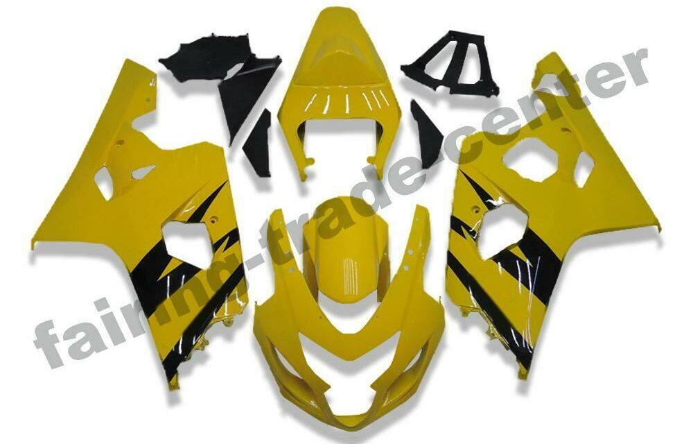 FTC Injection Mold Yellow Plastic Fairing Fit for Suzuki 04 05 GSXR 600 750 o072
