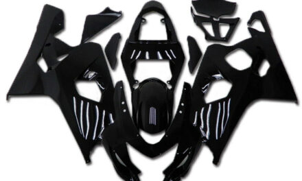 FK Injection Glossy Black Fairing Fit for Suzuki 2004 2005 GSXR 600 750 a007