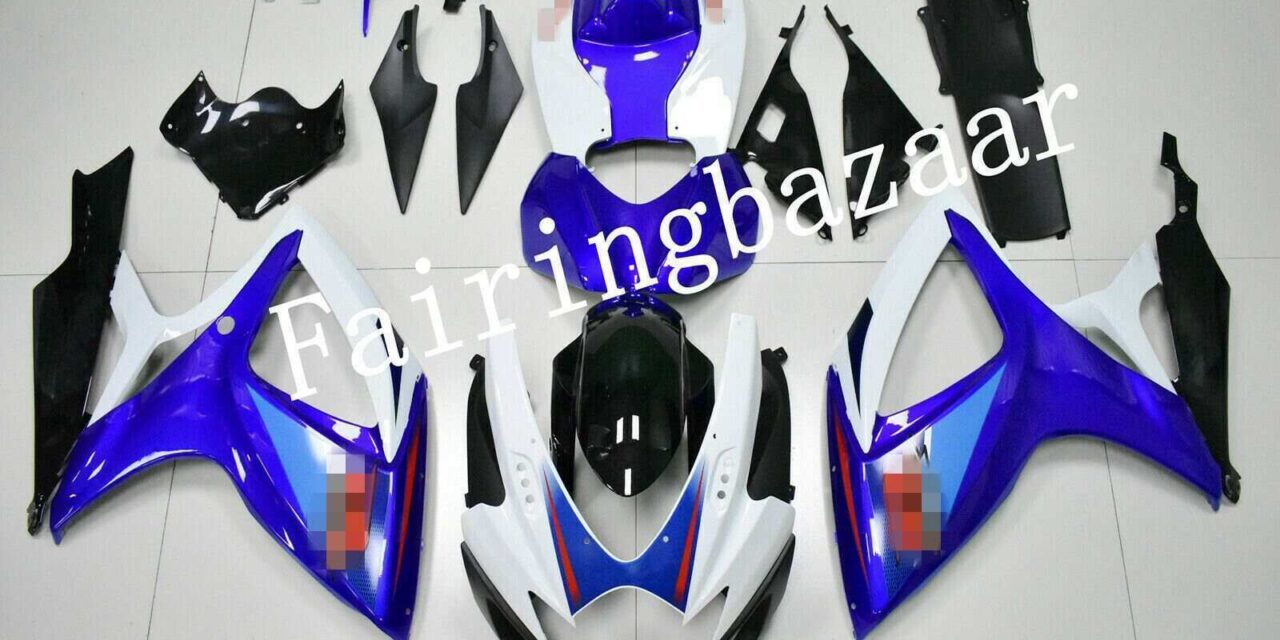 Fit for 2006 2007 GSXR600 GSXR750 Blue Black White ABS Injection Fairing Kit
