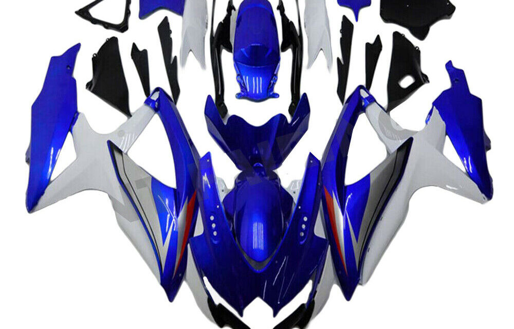 FTC Injection Mold Blue White Fairing Fit for Suzuki 2008-10 GSXR 600 750 o066a