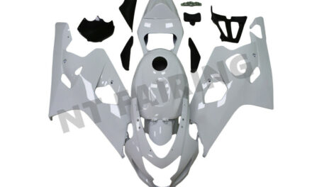 FTC Injection Mold White Fairing Kit  Fit for Suzuki 2004 2005 GSXR 600 750 o014