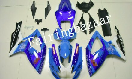 Fit for 2006 2007 GSXR600 GSXR750 CORONA Blue ABS Injection Bodywork Fairing Kit