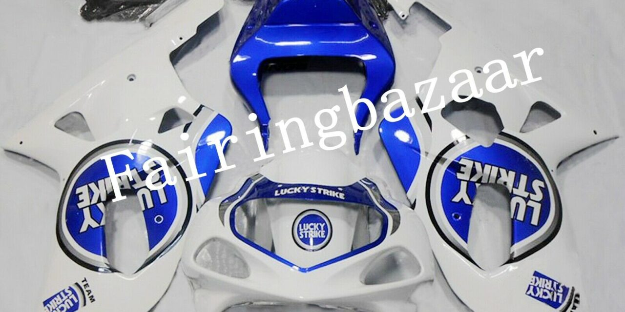 Fit for 2001-2003 GSXR600/750 LUCKY STRIKE Blue White ABS Injection Fairing Kit
