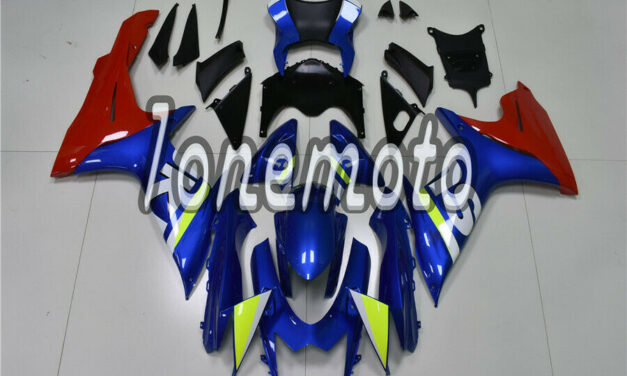 Fit for 2011-2018 GSX-R 600 750 K11 Blue Red ABS Injection Body Kit Fairing #Aq