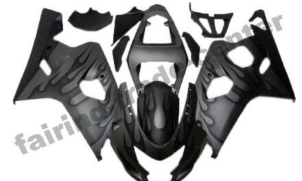 FTC Injection Mold Black Fairing Fit for Suzuki 2004 2005 GSXR 600 750 o015
