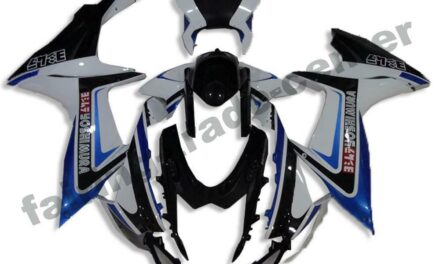 FTC Injection Fairing Cowl Black White Fit for Suzuki 2011-2020 GSXR600/750 a022