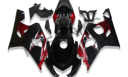GL Injection Black Red Plastic Fairing Fit for Suzuki 2004-05 GSXR 600 750 o078