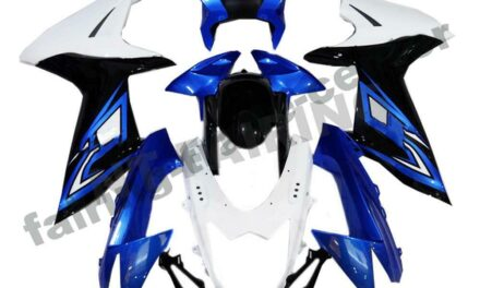 FTC Injection Fairing Molded Blue White Fit for Suzuki 2011-20 GSXR600/750 a003