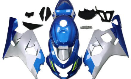 FTC Injection Kit Blue Silver Fairing Fit for Suzuki 2004-2005 GSXR 600 750 o091