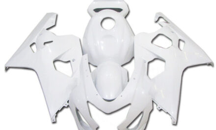FK Injection Glossy White Fairing Kit Fit for Suzuki 04-05 GSXR 600 750 a014
