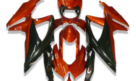 FK Injection Black Red ABS Fairing Fit for Suzuki 2008-2010 GSXR 600 750 a036