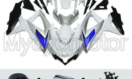 Motorcycle ABS Fairings Fit for Suzuki GSXR600 750 2008 09 10 White Blue Silver