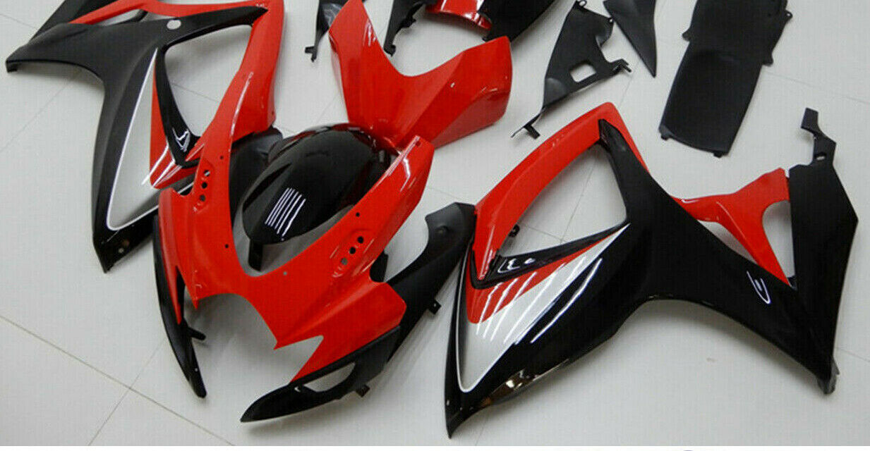 Fairing Injection Plastic Kit Red Black Fit For Suzuki GSXR600/750 2006-2007 SF