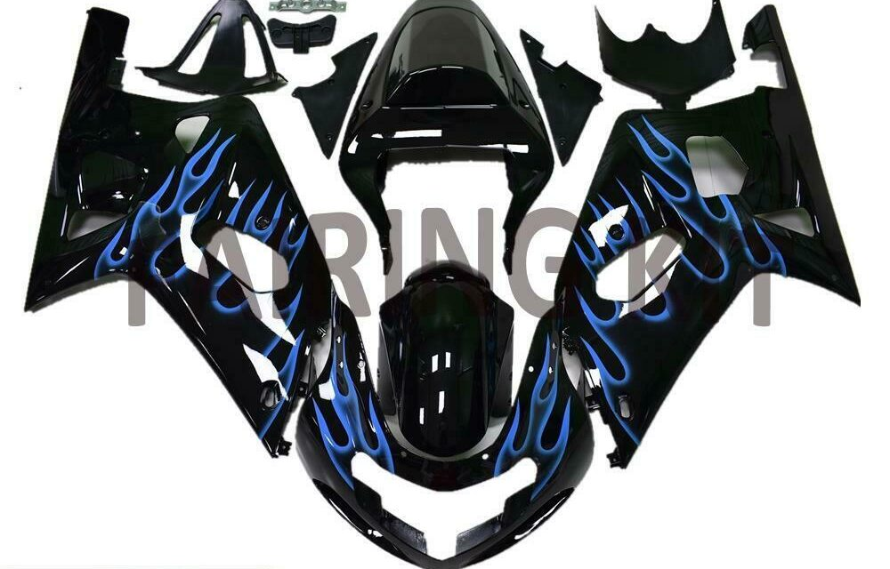 FK Injection Mold Flame Fairing Set Fit for Suzuki 2001-2003 GSXR 600 750 a087