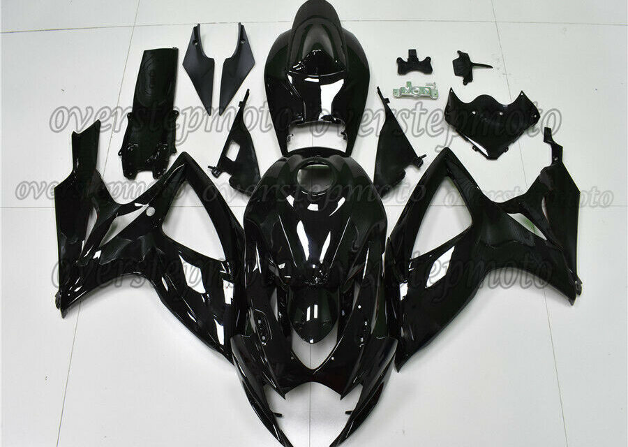 Injection Full Gloss Black Fairing Kit Fit for GSXR 600/750 2006-2007 K6 ABS aBL
