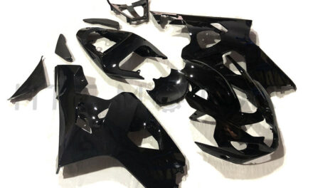 Injection Gloss Black Fairing Kit Fit for 2004-2005 Suzuki GSXR 600 750 ABS