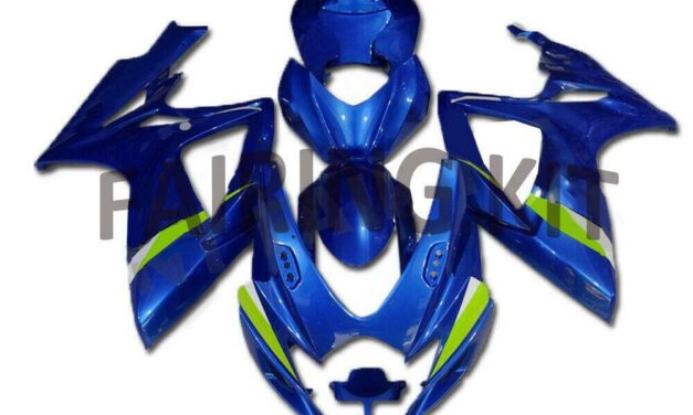 US Stock Injection Blue ABS Fairing Fit for Suzuki 2006 2007 GSXR 600 750 s007
