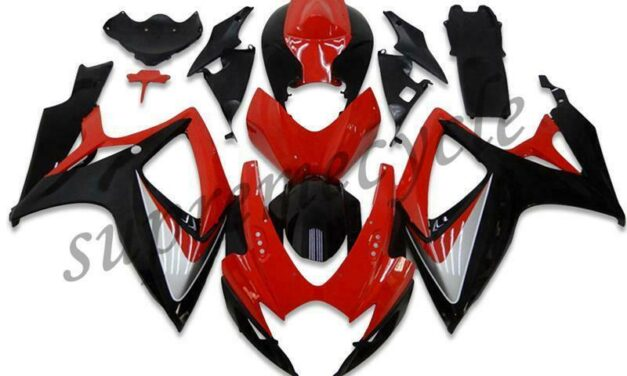 SCA Injection Red Black Fairing Kit Fit for Suzuki 2006 2007 GSXR 600 750 a003