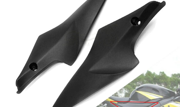 Black ABS Tank Side Panel Fairing Cowl Cover Fit For Suzuki GSXR750 2006-2007