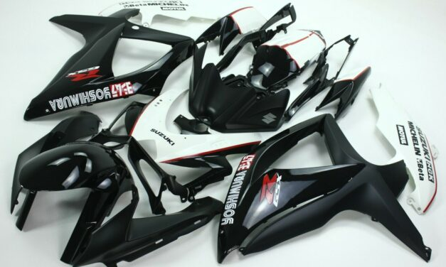 AFTERMARKET ABS PLASTIC FAIRINGS FOR GSXR600/750 08-09 BLACK AND BLUE COLOR