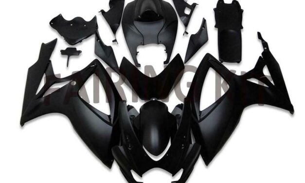 US Stock Injection Black ABS  Fairing Fit for Suzuki 2006 2007 GSXR 600 750 a002