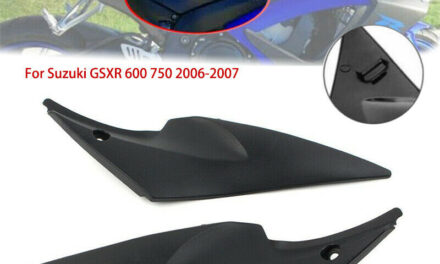 Black ABS Plastic Gas Tank Side Cover Panel Fairing Fits For Suzuki GSXR750/600