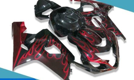 FTC Black Red Injection Fairing Kits Fit for Suzuki 2004-2005 GSXR 600 750 v017