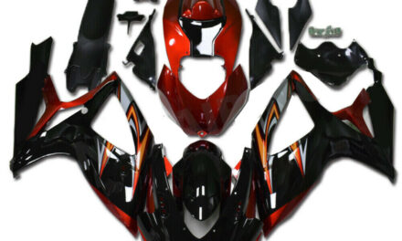 DS Injection Red Black Fairing Kit Fit for Suzuki 2006 2007 GSXR 600 750 a0110