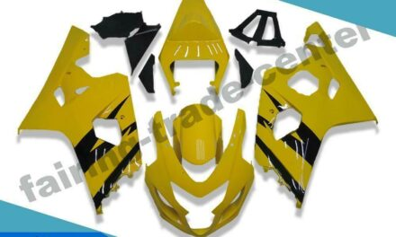 FTC Injection Mold Yellow Plastic Fairing Fit for Suzuki 04 05 GSXR 600 750 v072
