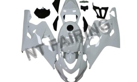 DS Injection Mold White Fairing Kit  Fit for Suzuki 2004 2005 GSXR 600 750 o014
